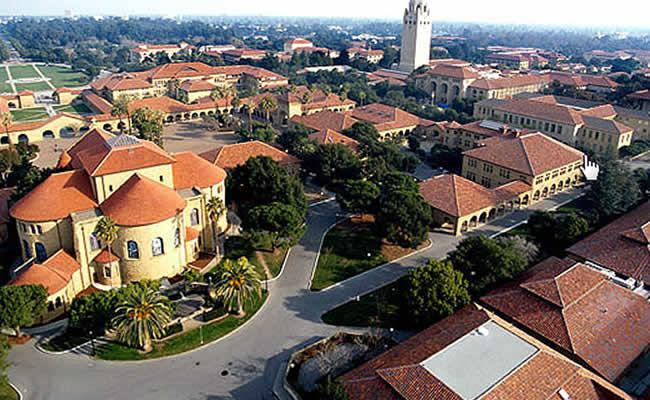 Кампусы Стэнфорда с высоты птичьего полета