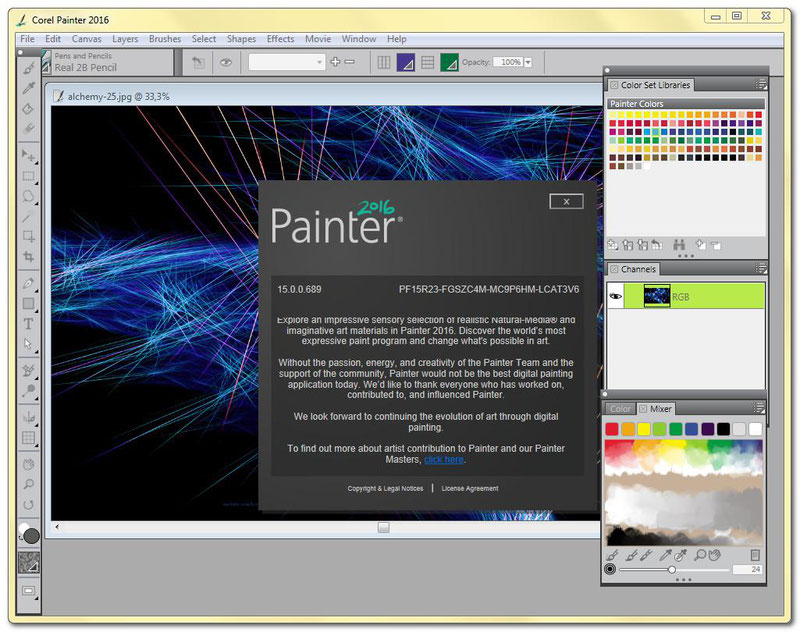 Установка программы Corel Painter