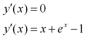 решение дифференциальных уравнений