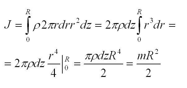 момент инерции формула физика