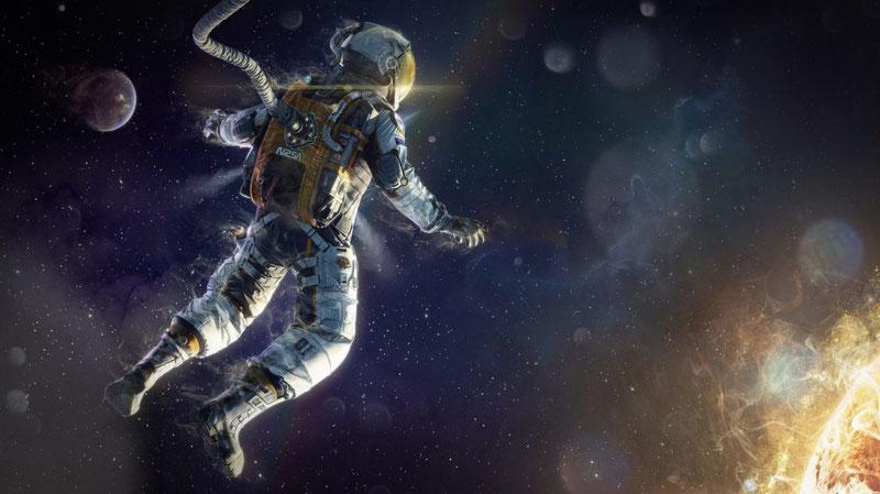 В космосе наблюдается почти полное отсутствие давления