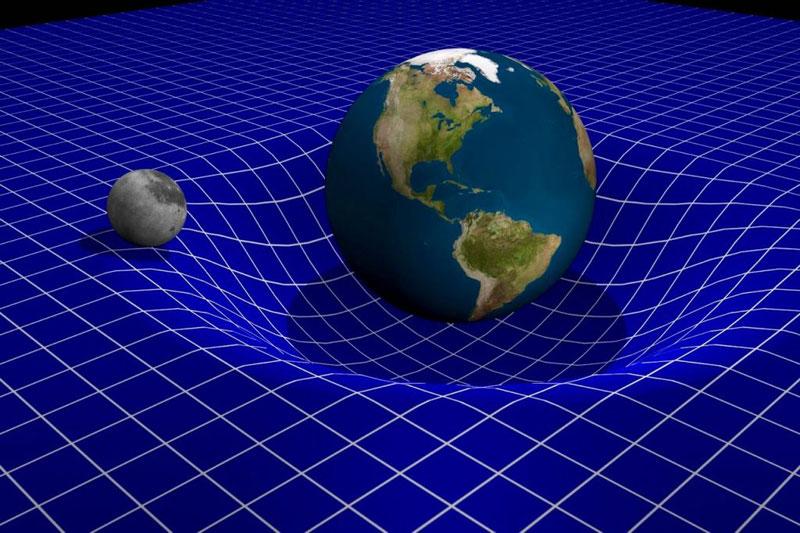Чем массивнее объект, тем сильнее он искривляет пространство