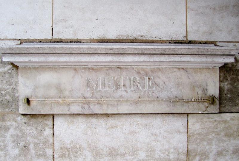 Один из эталонов метра в Париже