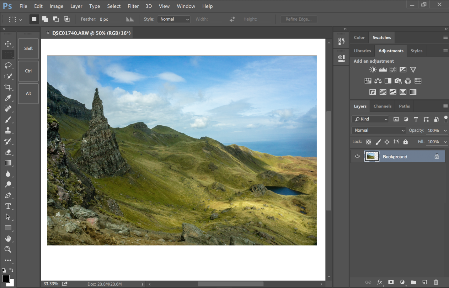 интерфейс Adobe Photoshop
