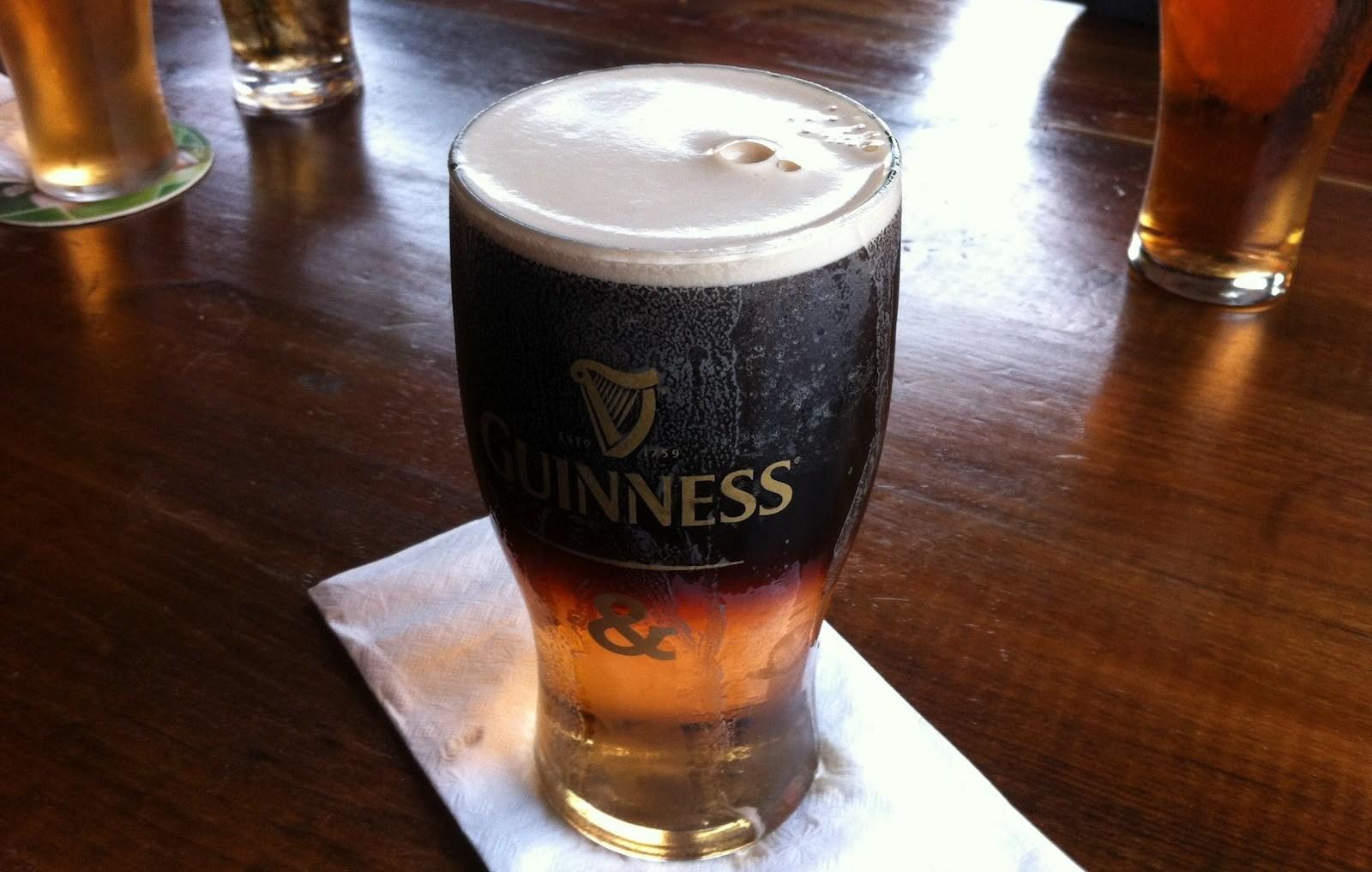 коктейли с темным пивом