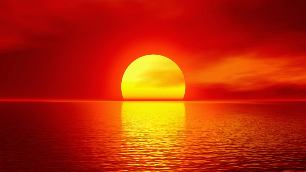 Вечернее солнце кажется красным