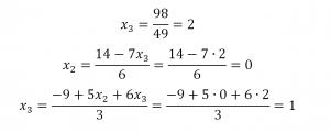решить систему уравнений методом гаусса примеры
