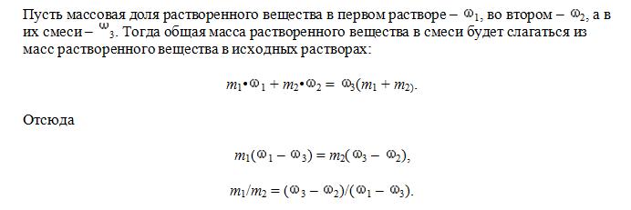 решение задач на растворы по химии объяснение
