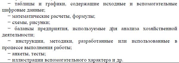 Методические рекомендации по написанию магистерской правила  Примеры приложений