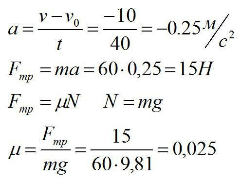 Решение задач по физике тема трение решение прямой задачи линейным способом